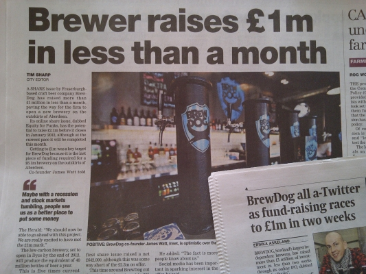 Equity for Punks hits &pound;1m &amp; an update on our Bar Division
