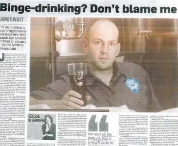 Last Week&#039;s Sunday Time&#039;s BrewDog article