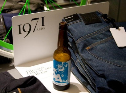 BrewDog party like it&#039;s 1971 at the launch of Reiss&#039; new clothing collection