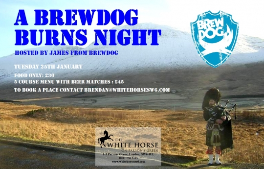 BrewDog brings Burns Night to London