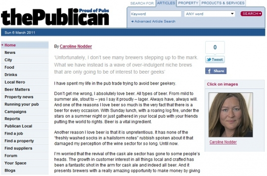 Right to Reply - @ Caroline Nodder, Publican Editor