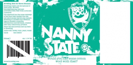 Nanny State Label and Text