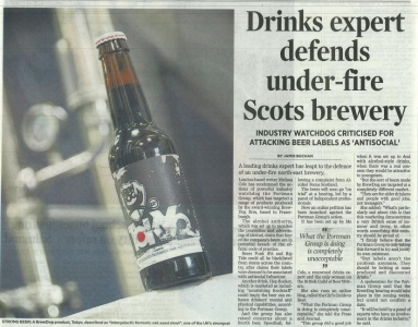 Drinks expert defends under fire BrewDog