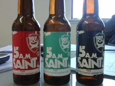 5am Saint label colour dilema