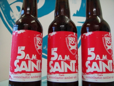 5am Saint rocks off the BrewDog bottling line