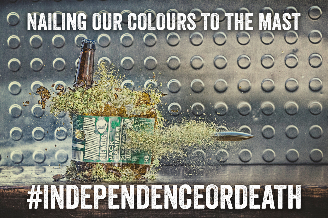 NAILING OUR COLOURS TO THE MOTHER FUCKING MAST