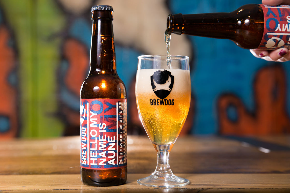"BrewDog lanserer limited edition øl ""Hello My Name is Aune"" kun i Norge"