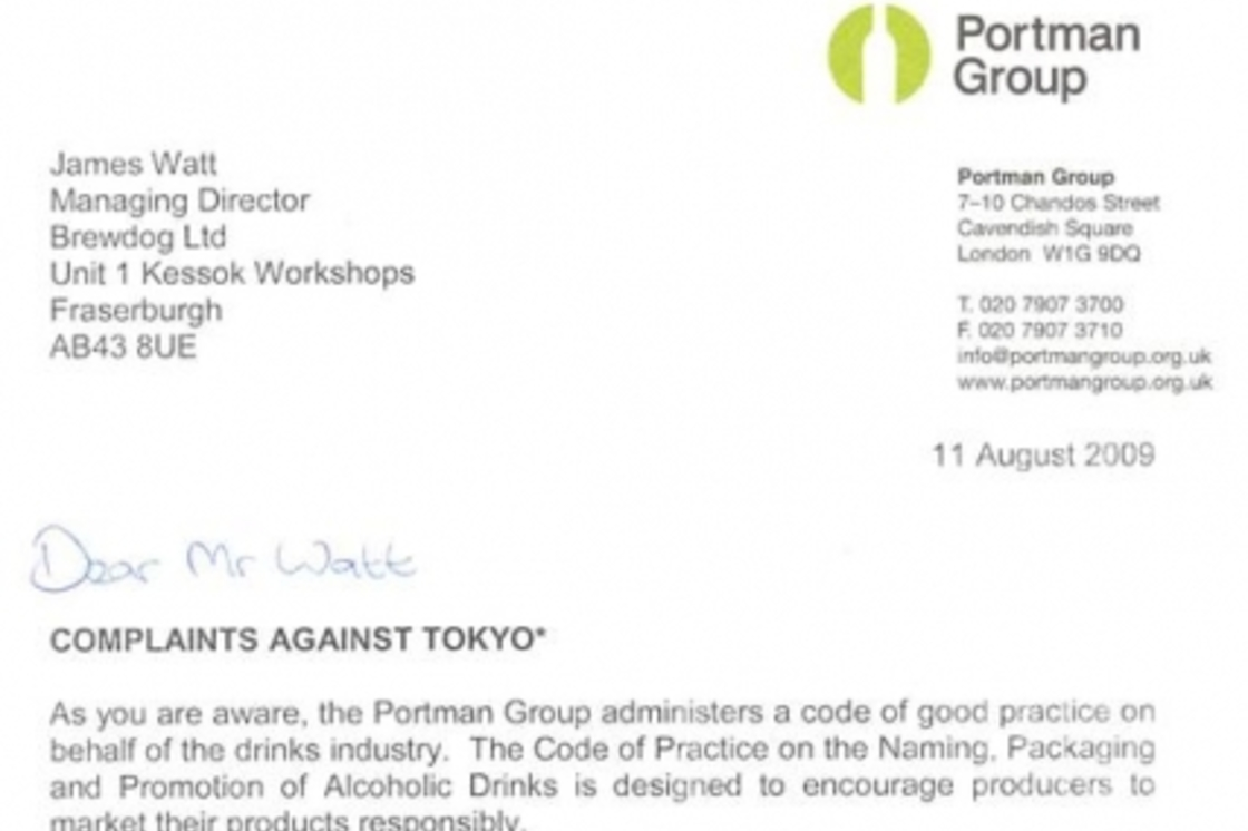 The Portman Group starts action against Tokyo*