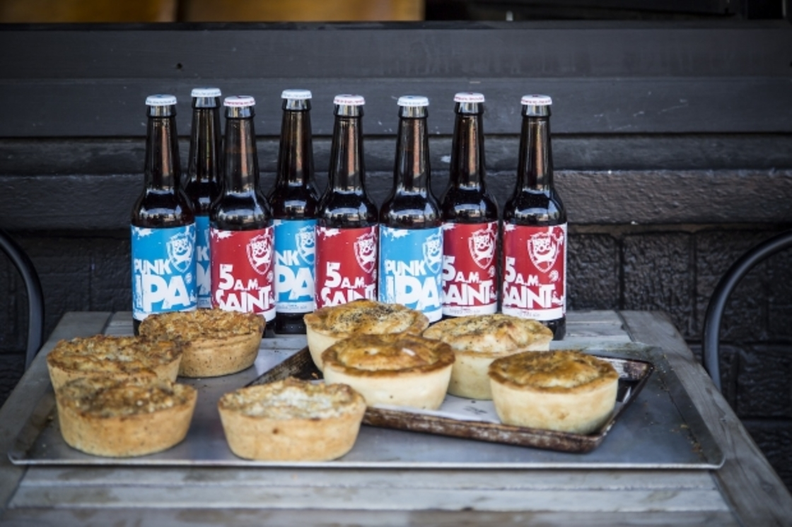 Beery pies with Pieminister