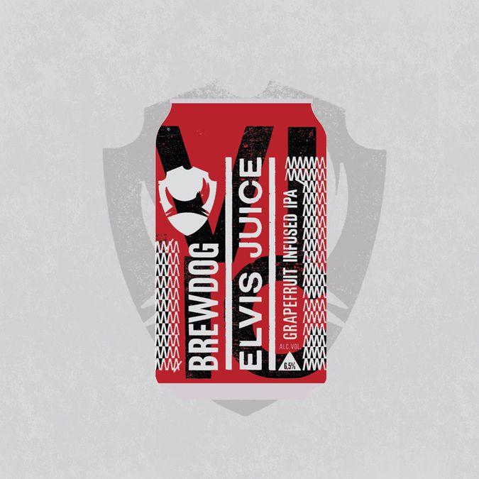 Elvis Juice Cans