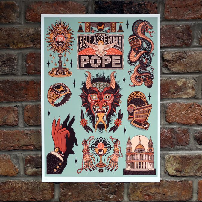 Self Assembly Pope Limited Edition Art Print