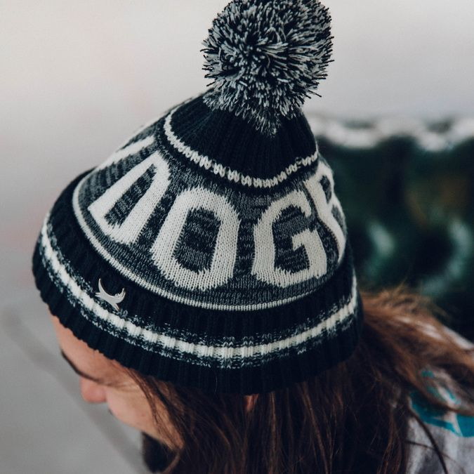 Monochrome Bobble Hat