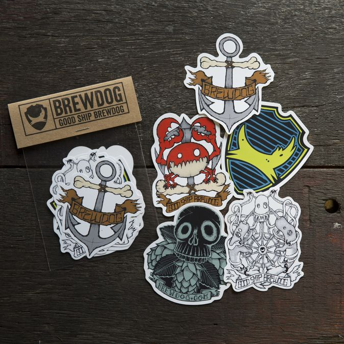 Fisher Graphic Vinyl Sticker Pack (5 Stickers)
