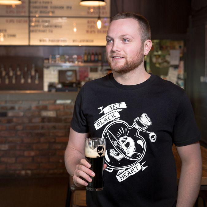 Jet Black Heart Bottle T-Shirt