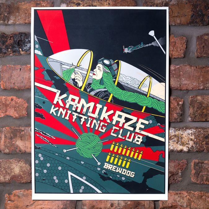 Kamikaze Knitting Club Limited Edition Screen Print