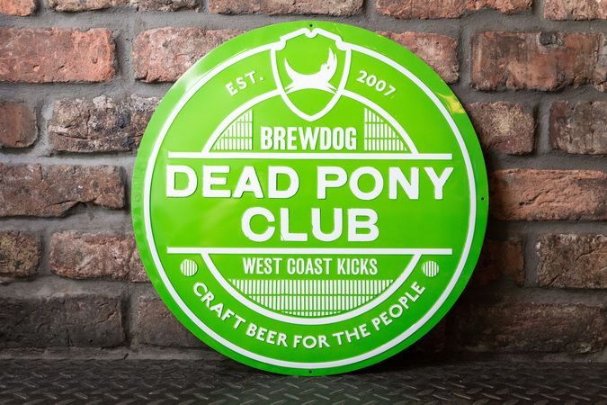 Dead Pony Club Lock Up Metal Sign