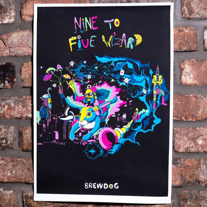 Nine to Five Wizard Limited Edition Screen Print