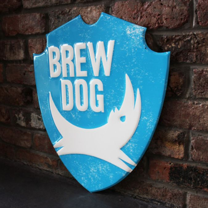 BrewDog Shield Sign