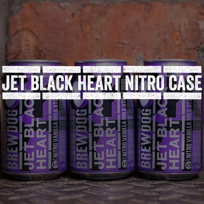 Jet Black Heart Nitro Can Case