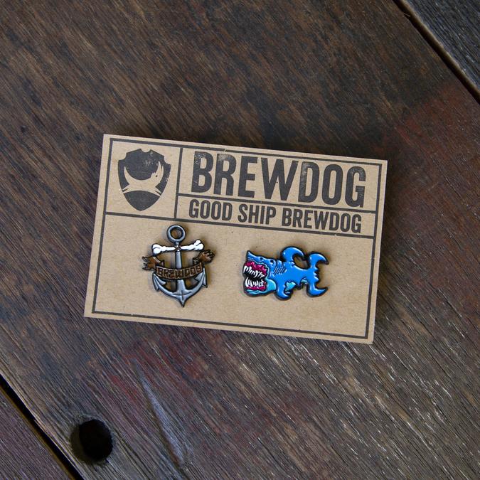BrewDog Shark and Anchor Pin Set