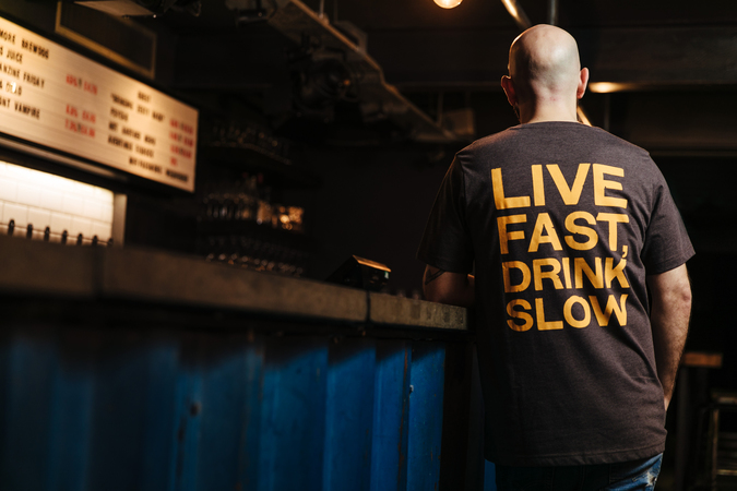 Live Fast Charcoal Tee
