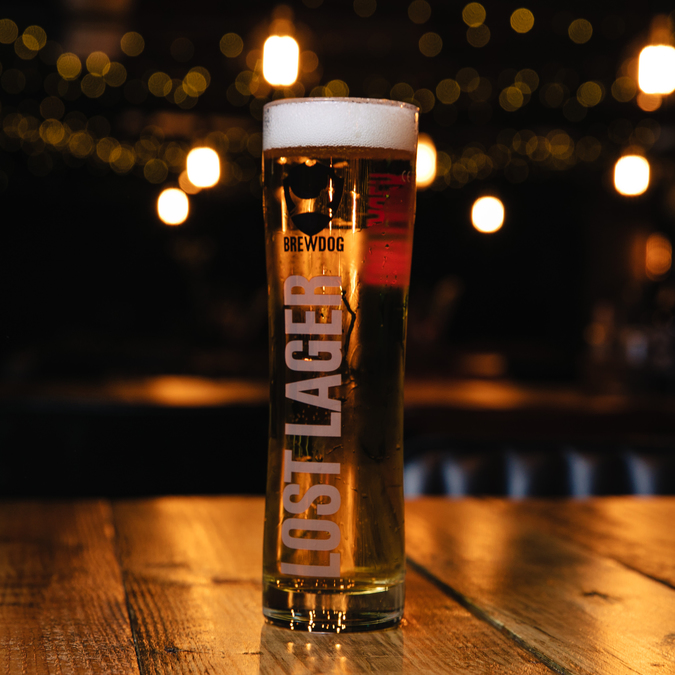 Lost Lager Pint Glass