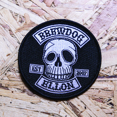 EST Skull Embroidered Patch