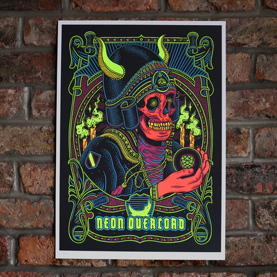 Neon Overlord Limited Edition Art Print
