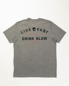 LIVE FAST GREY T-SHIRT