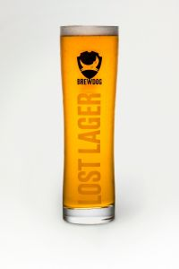Lost Lager Sinus Pint Glass