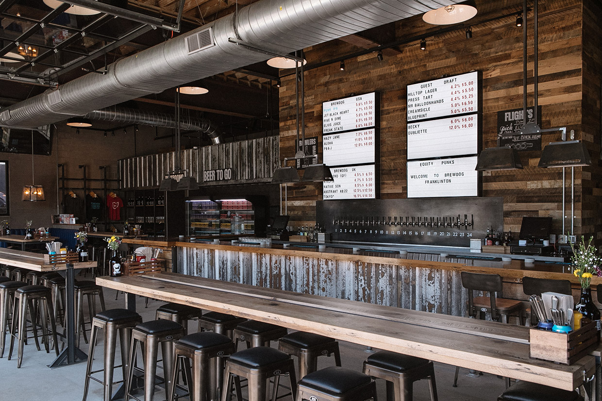 BrewDog Franklinton Interior Taps